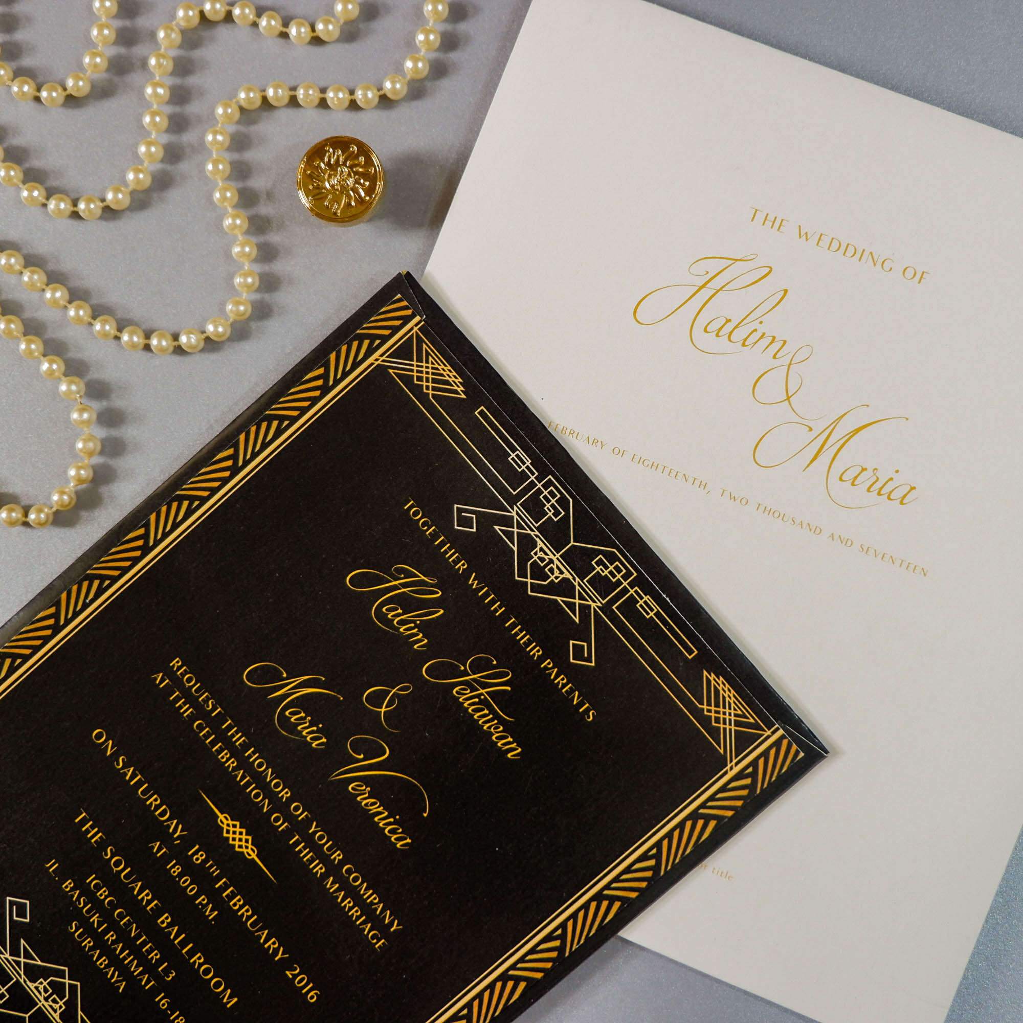 De vinc invitation wedding invitations in surabaya bridestory stopboris Gallery