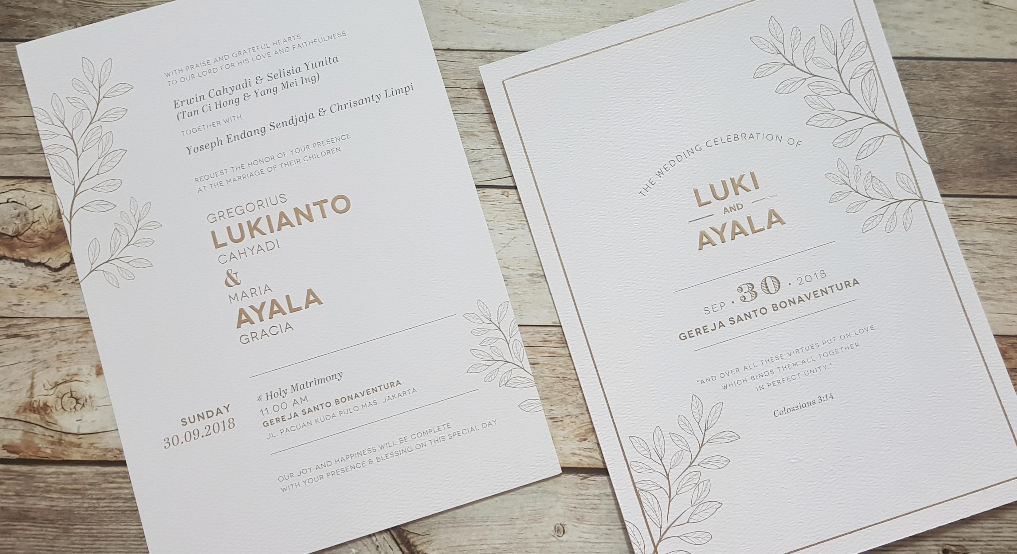 Red Card Wedding Invitations In Jakarta Bridestory Com