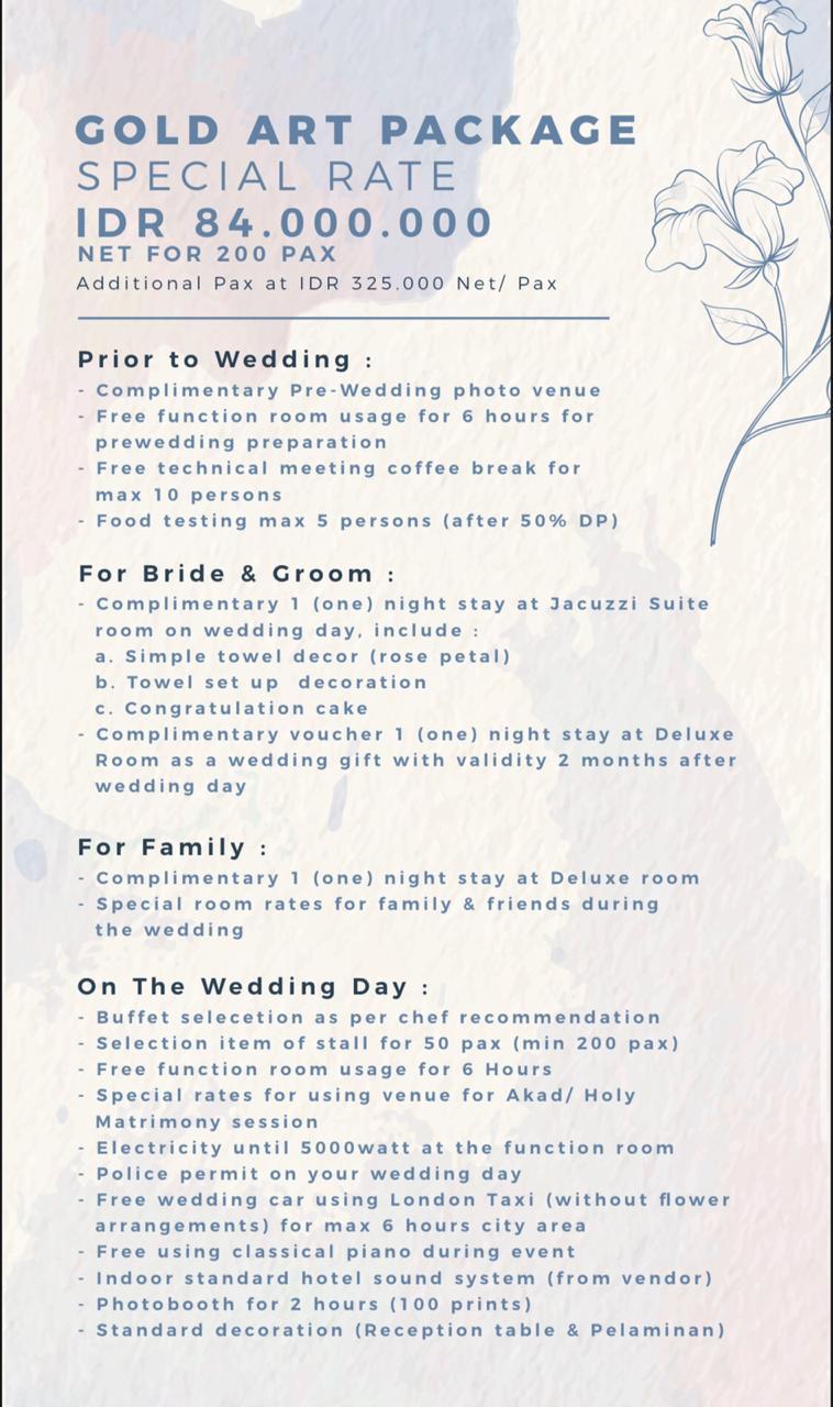 Wedding Package 2020 By Art Deco Luxury Hotel Ciumbeleuit Bandung Bridestory Com