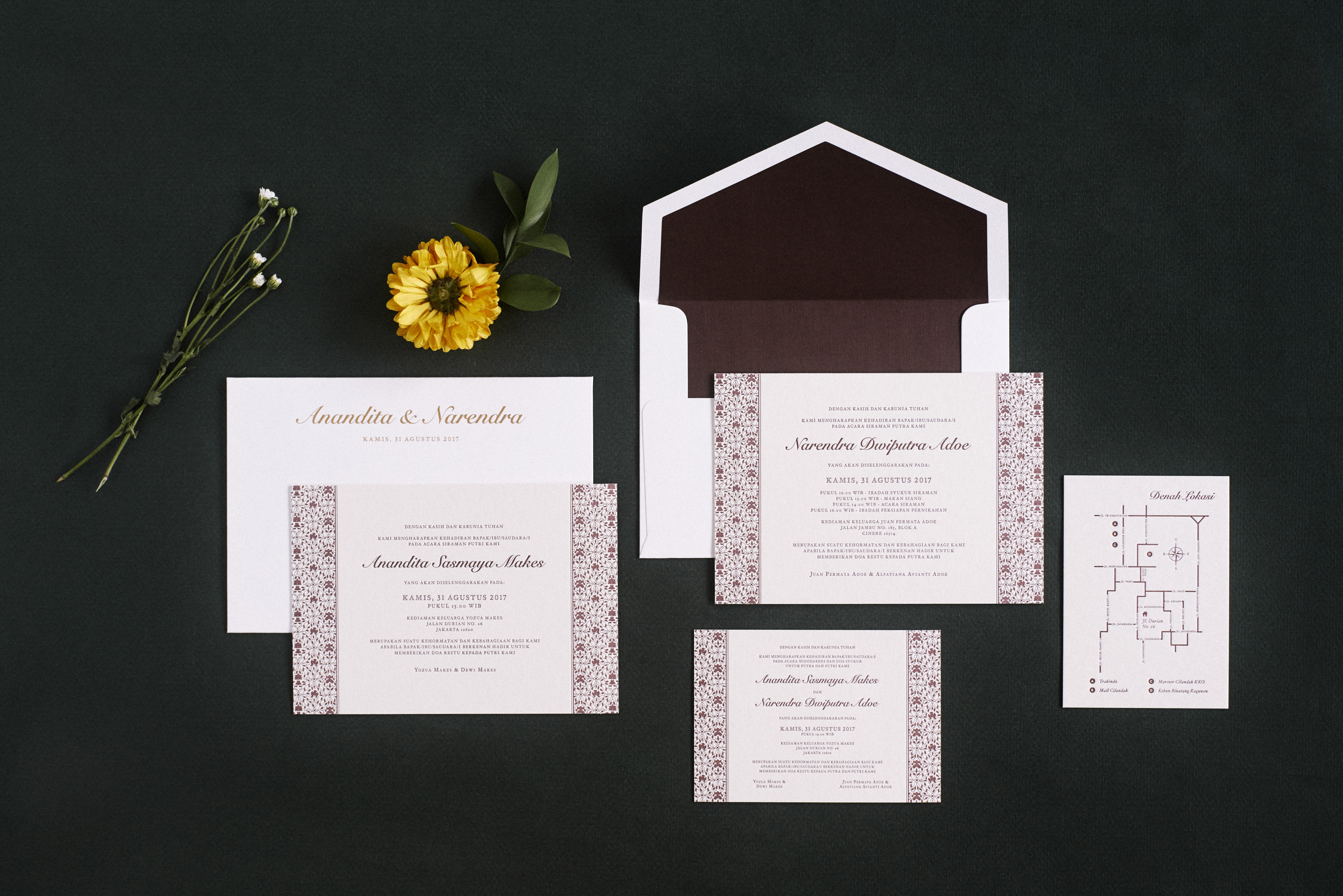 Directory of Wedding Invitations Vendors in Jakarta