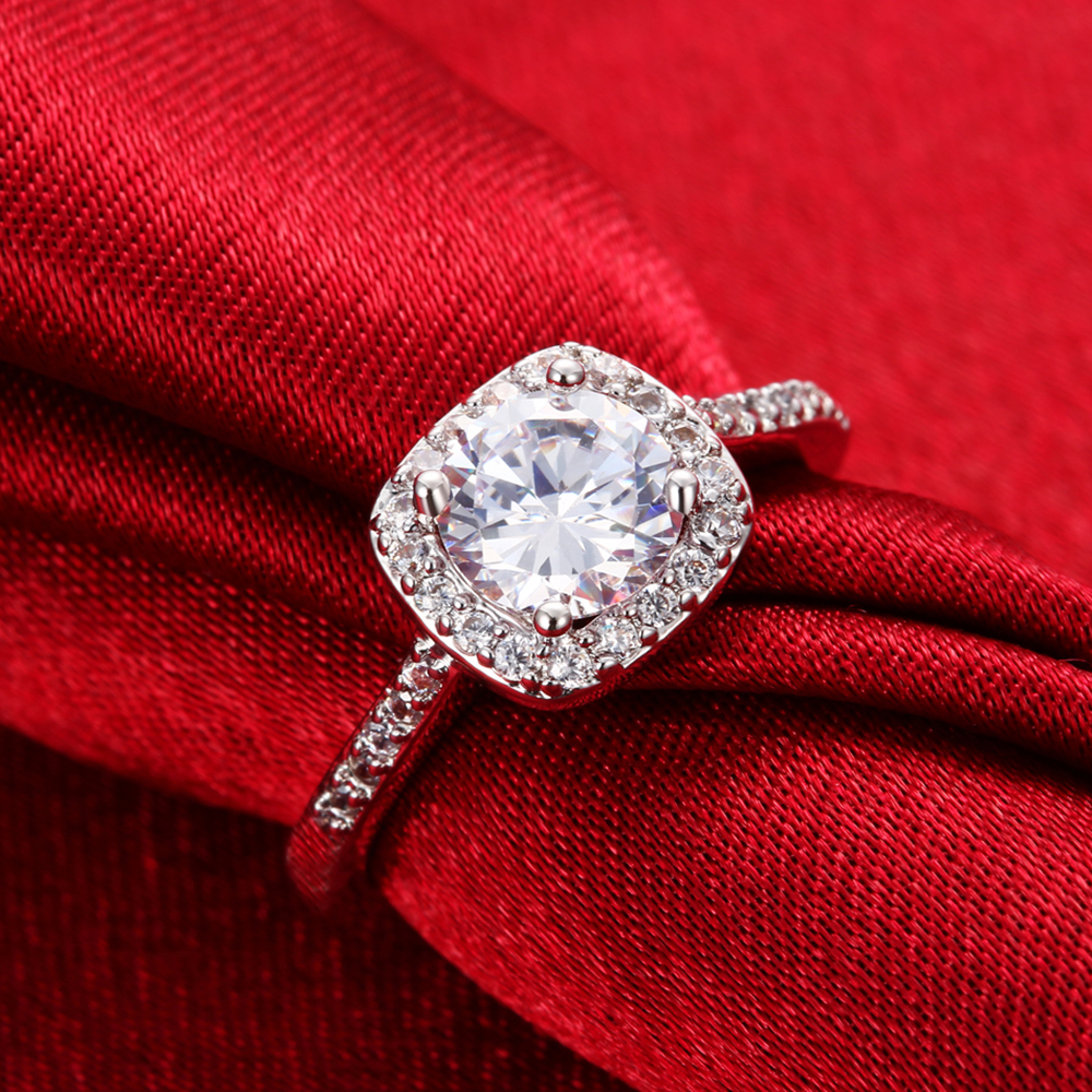 Harga Jual Tiaria Dhtxdfj025 Cincin Tunangan Emas Berlian Termurah Djxjz059 Ring Modern Design Perhiasan 4 Bridestory