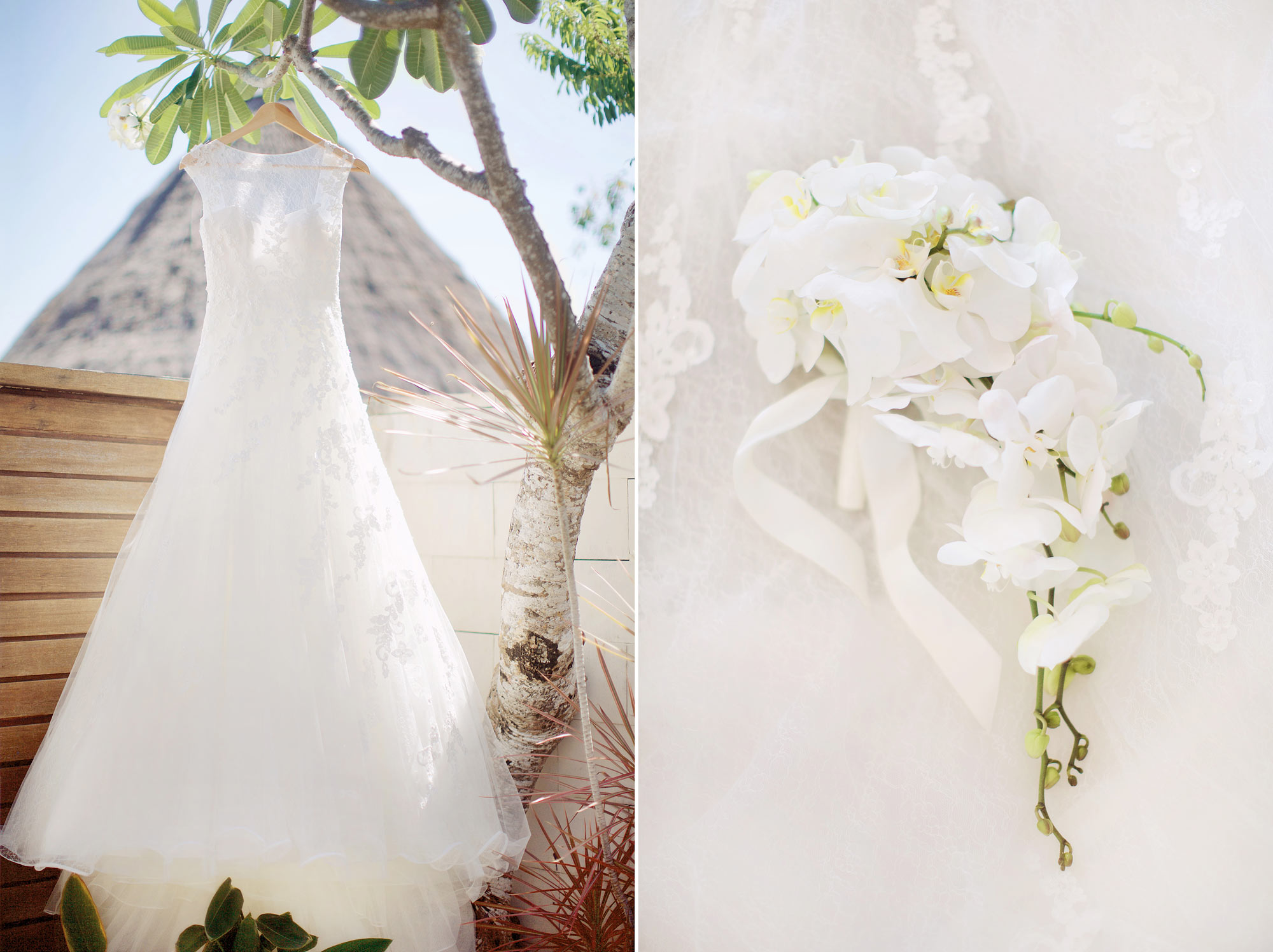An All White Wedding In Bali Filled With Orchids Bridestory Blog