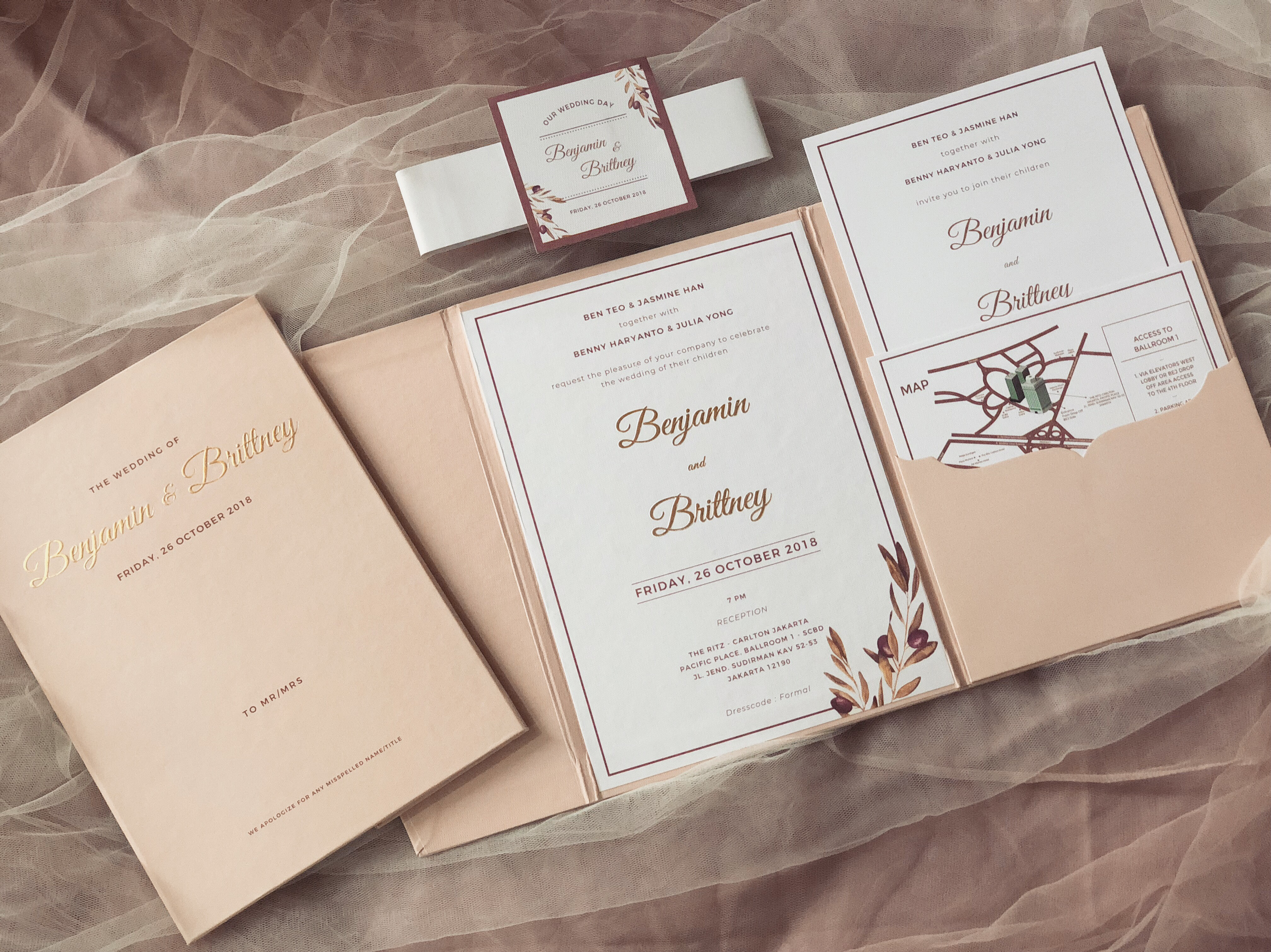 Benjamin Brittney Wedding Invitation By Book Idea