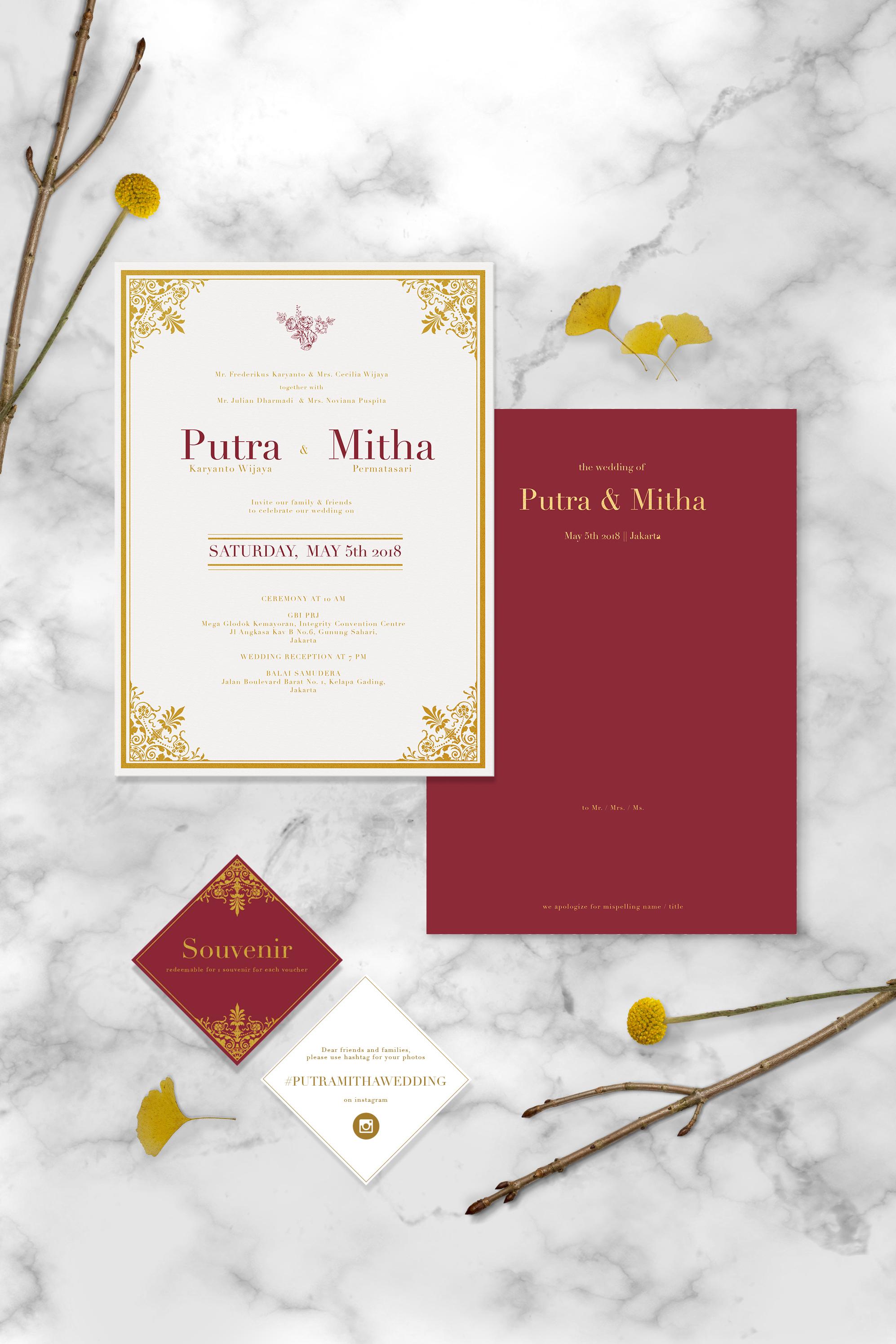 Putra & Mitha by Petite Chérie Invitation | Bridestory.com