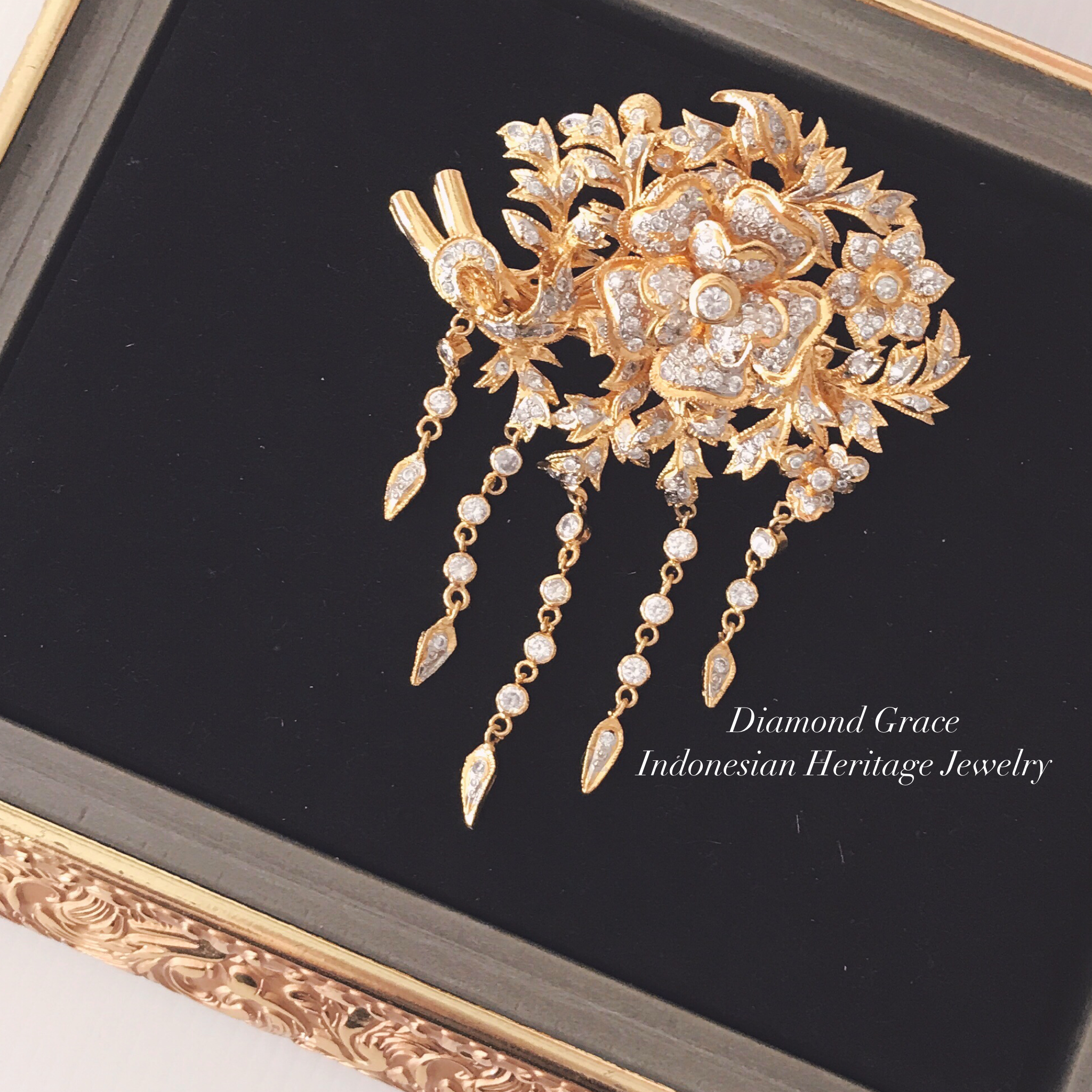 Javanese Brooch by Diamond Grace Bridestorycom