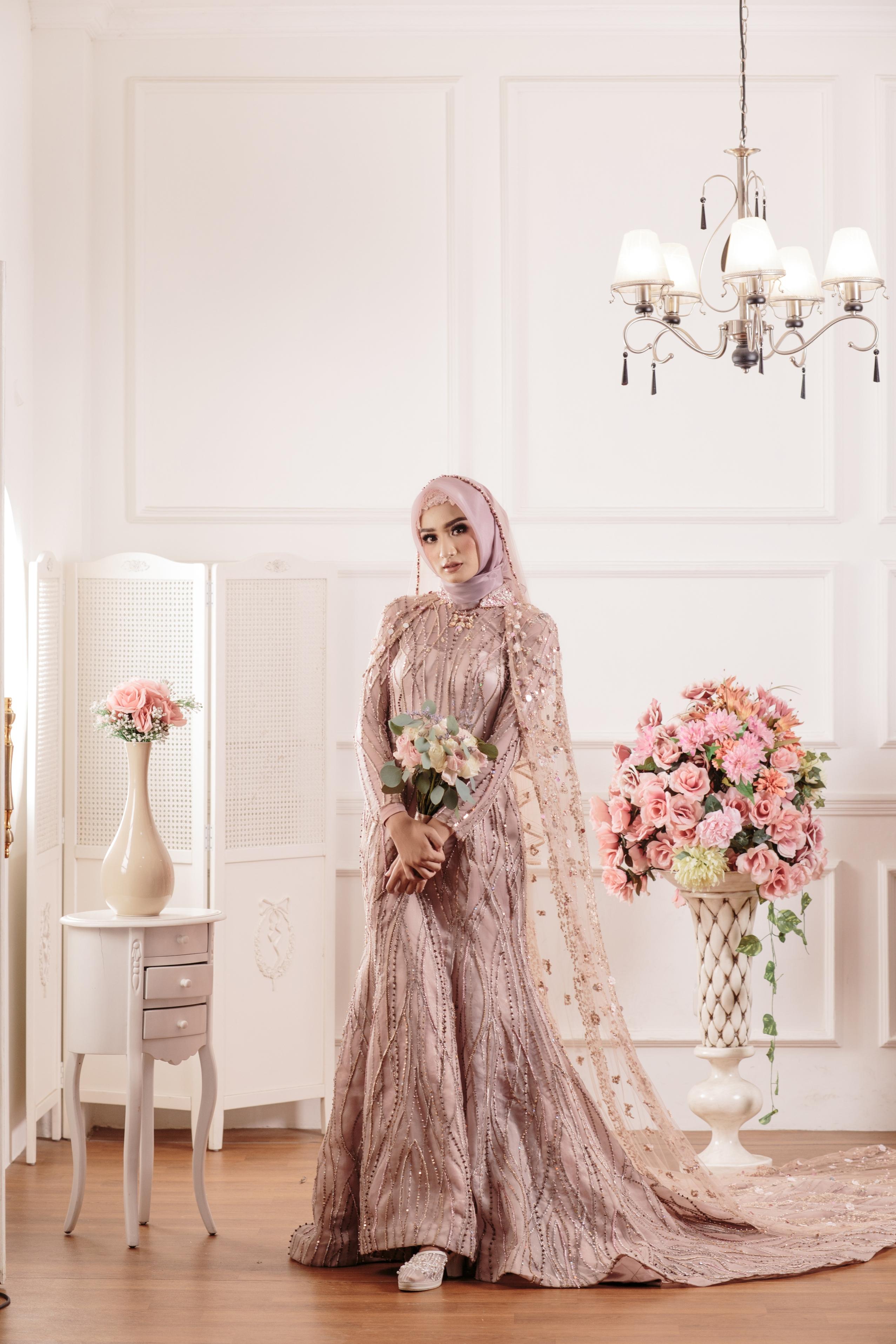 Laksmi Kebaya Muslimah Islamic Bride Wedding Bridal In