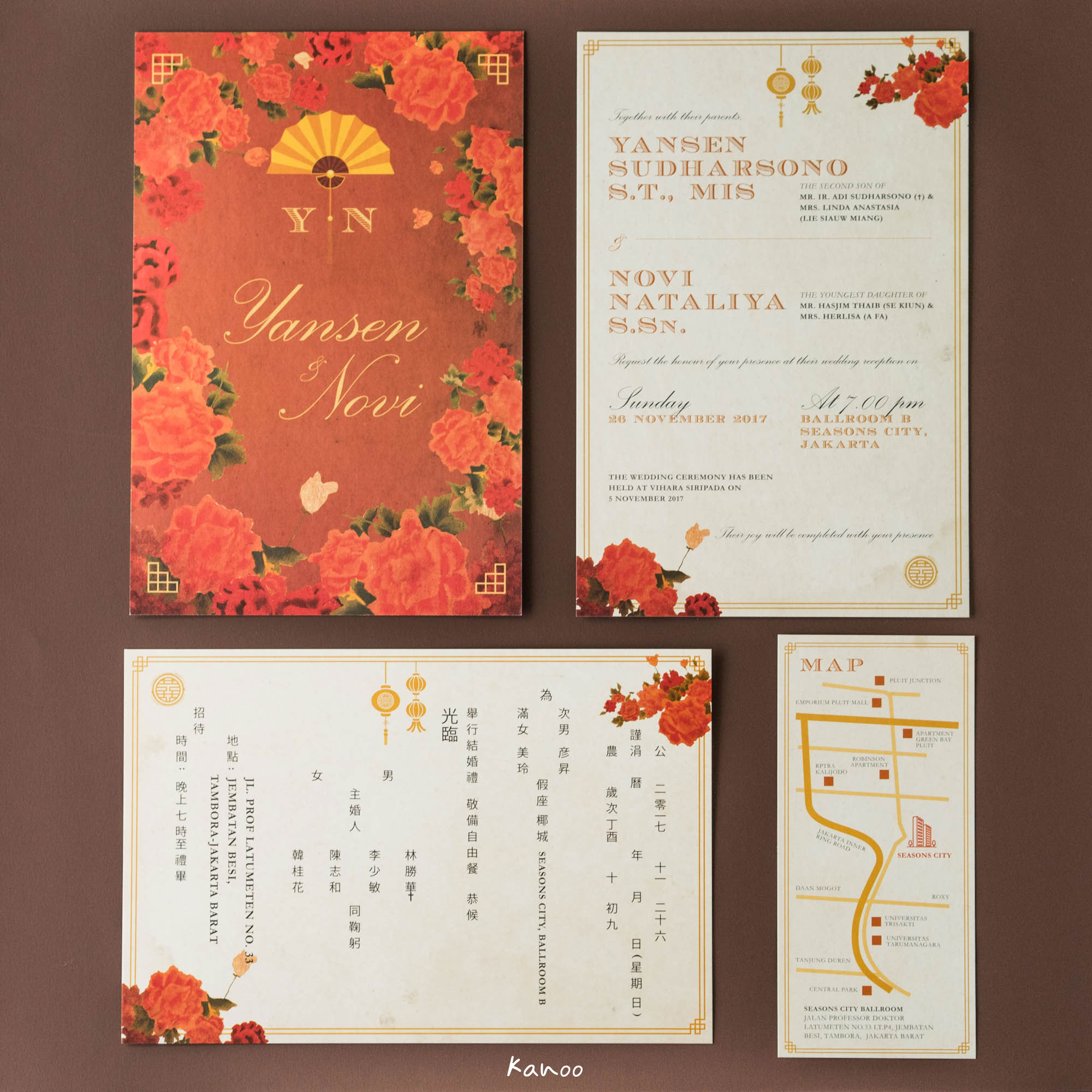 Wedding Invitation - China 1920 by Kanoo Paper & Gift | Bridestory.com