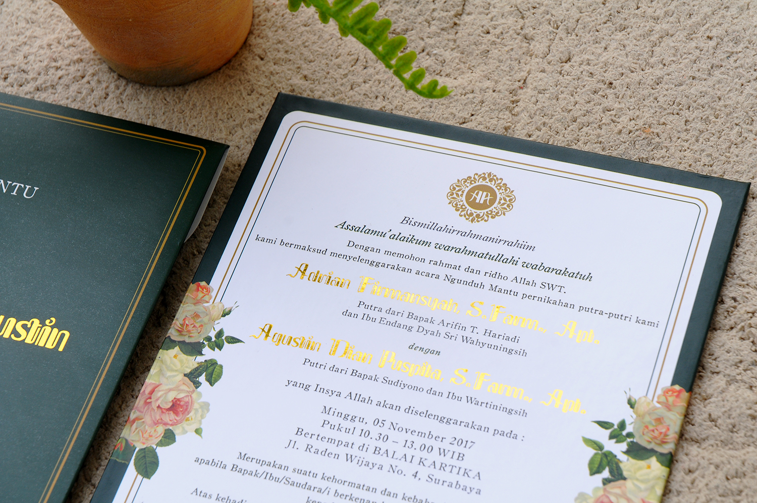 Serat ulem wedding invitations in surabaya bridestory stopboris Gallery