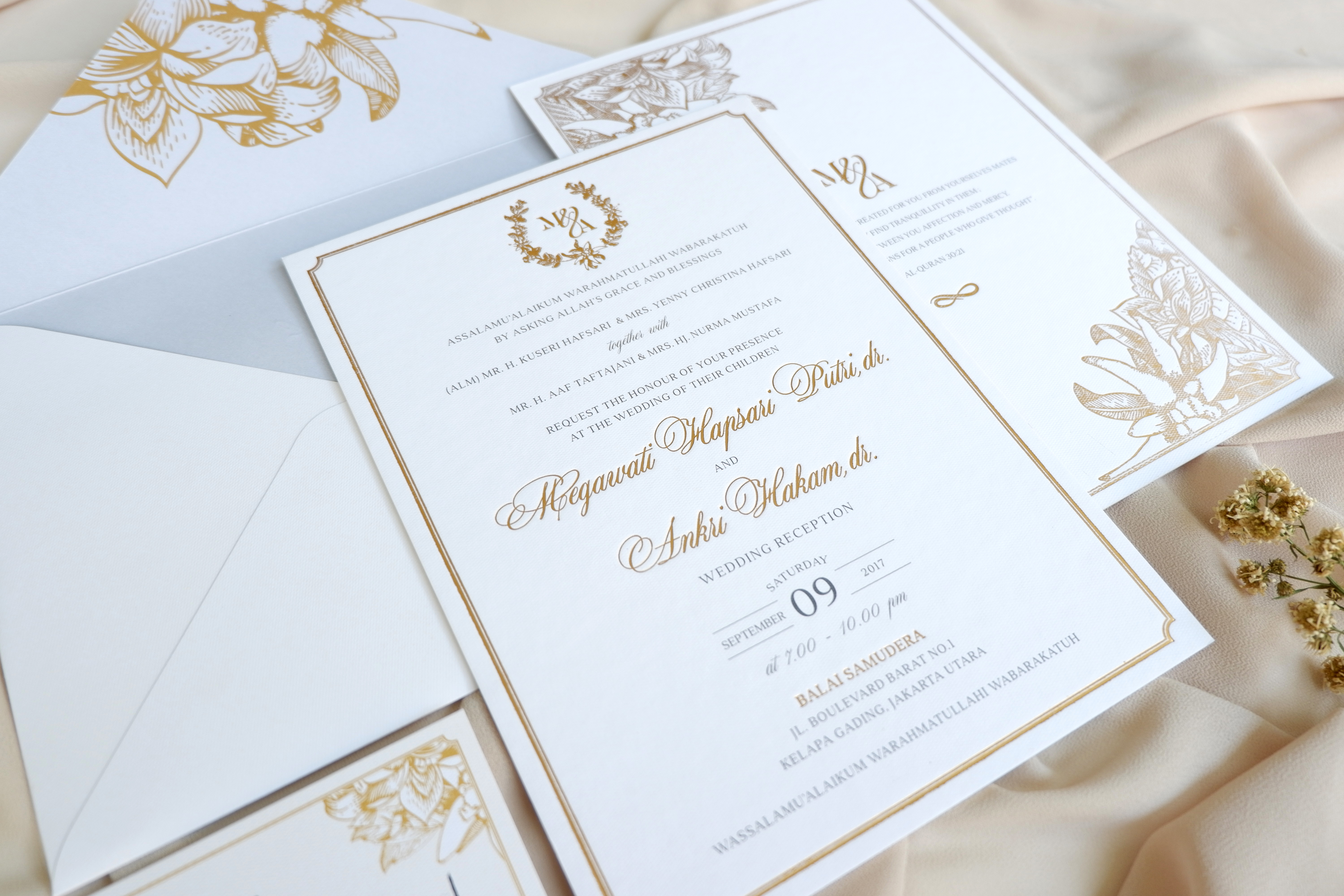 Mille paperie wedding invitations in jakarta bridestory stopboris Image collections