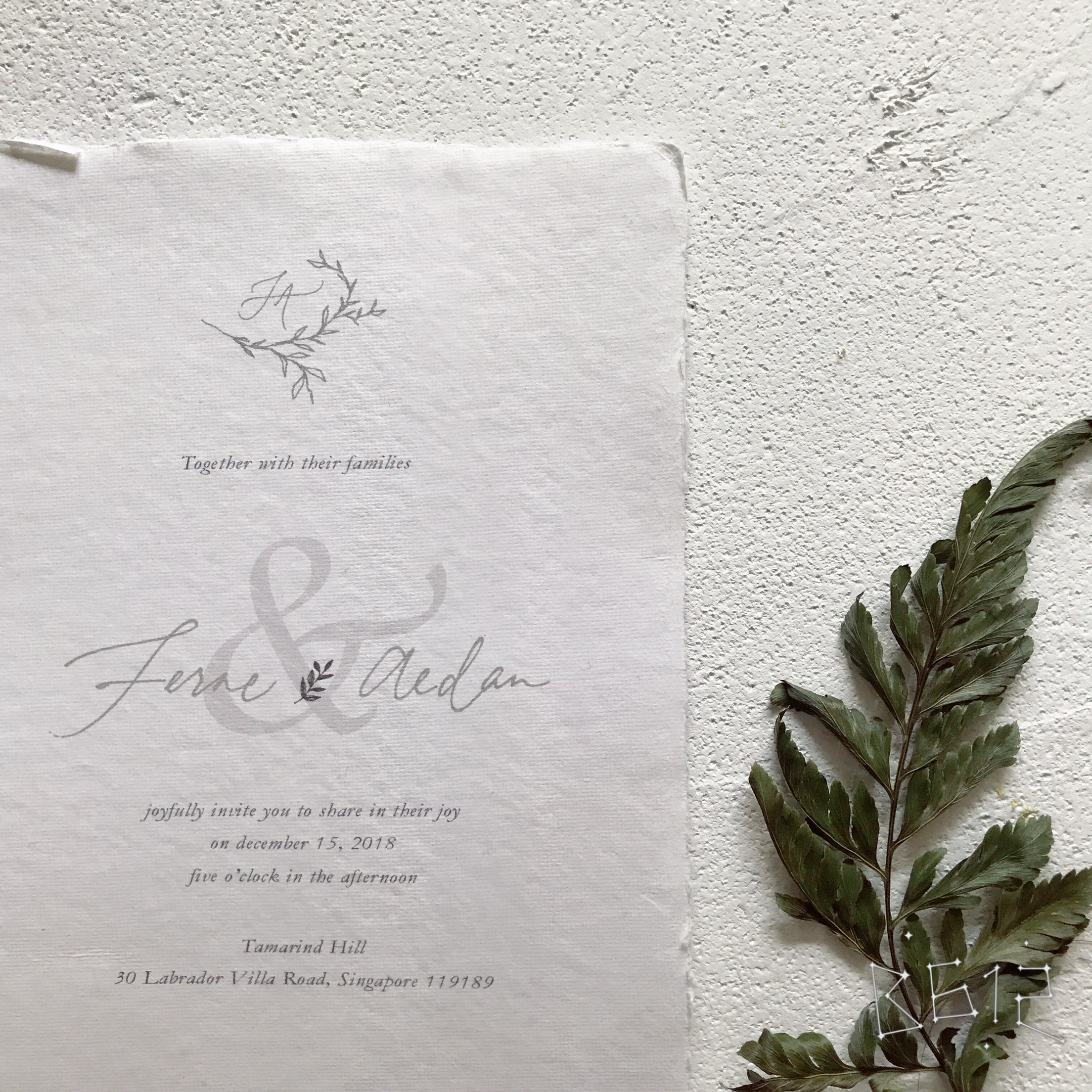 Modern Calligraphy Wedding Invitation by Edle Ink | Bridestory.com