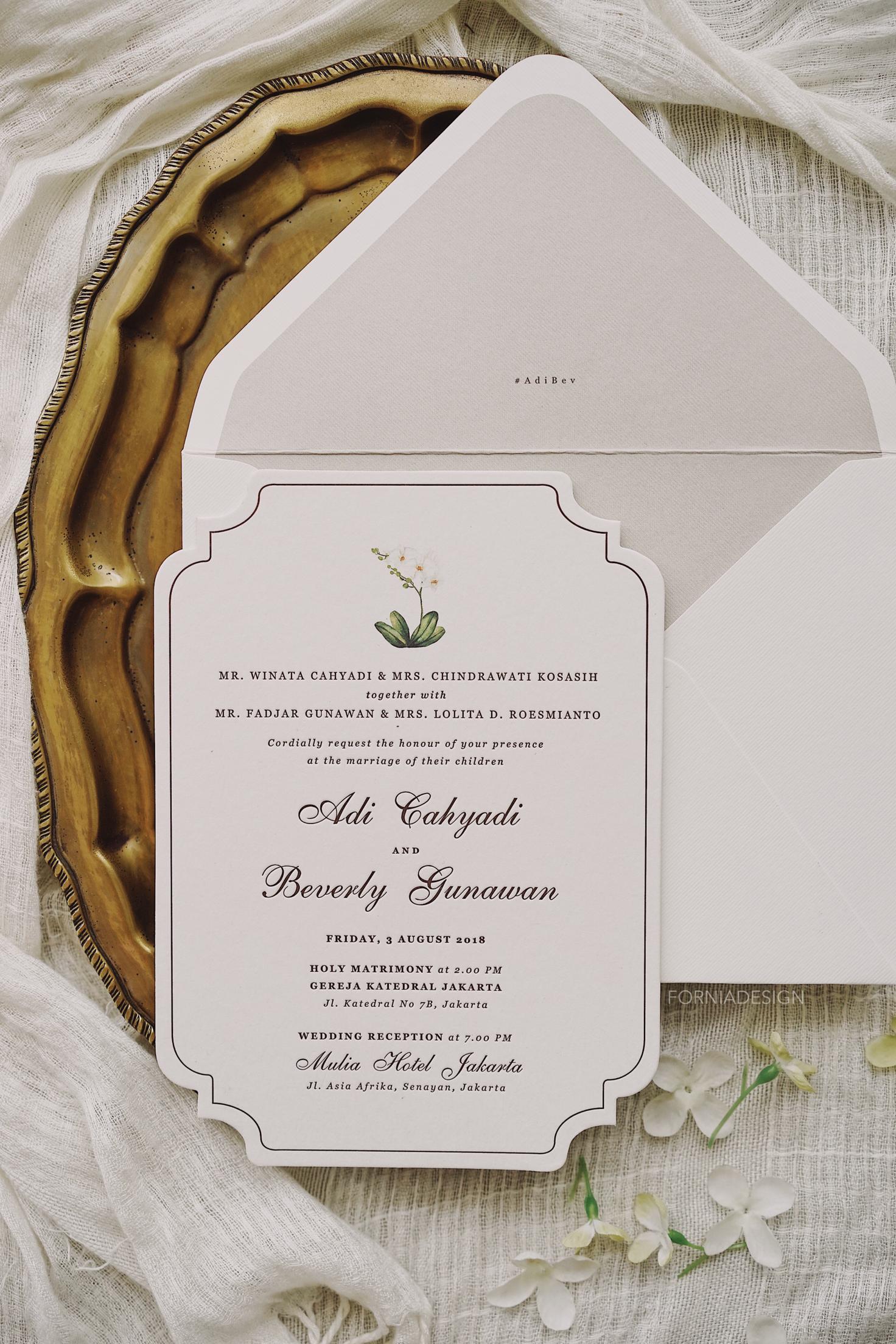 Fornia Design Invitation Wedding Invitations In Jakarta