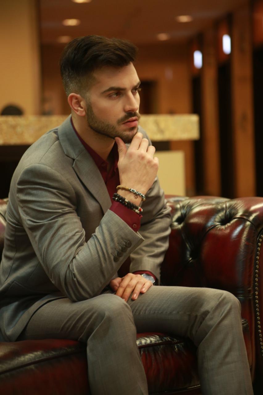 Suit By Mozzo Houseofcuff Collar Bar Lapel Pin Bros Jas Wedding Best Man Bow Tie Grey