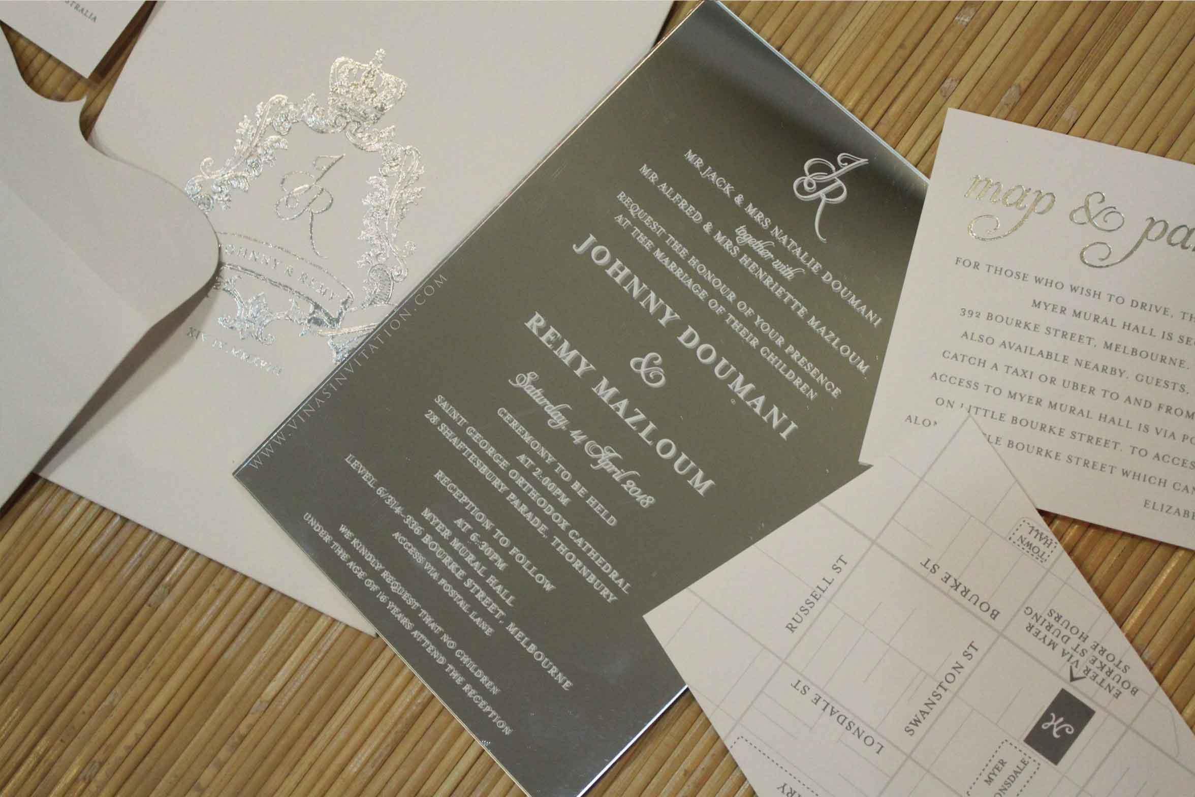 Johnny & Remy by Vinas Invitation | Bridestory com