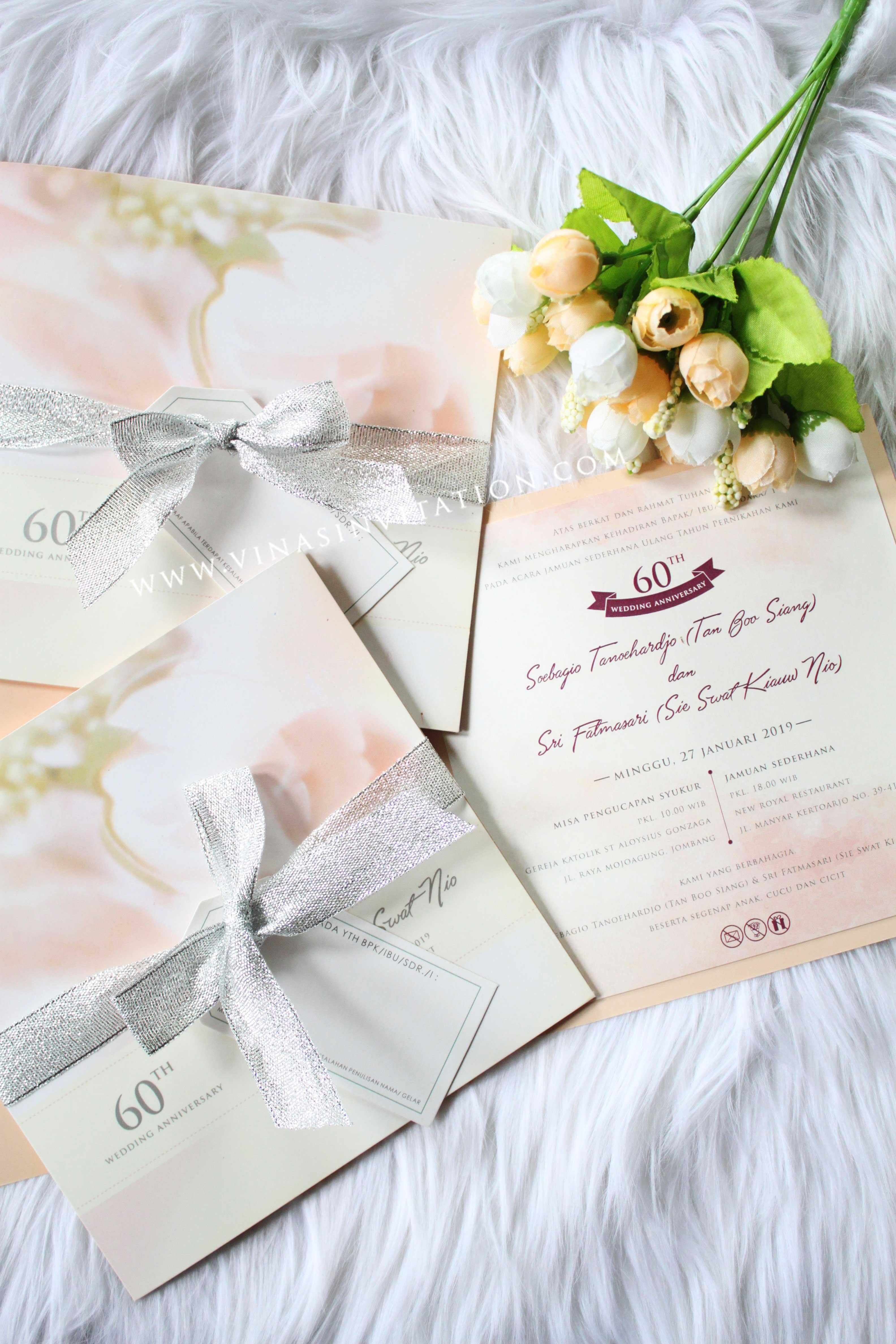 Soebagio Fatma Wedding Anniversary By Vinas Invitation