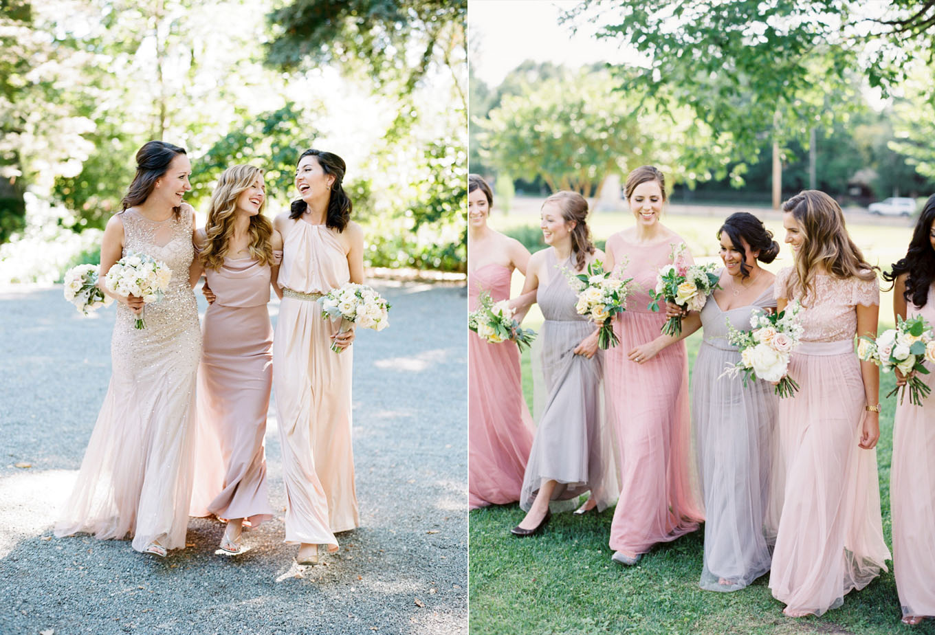 Mismatched Short Nude Bridesmaid Dresses In Sedona