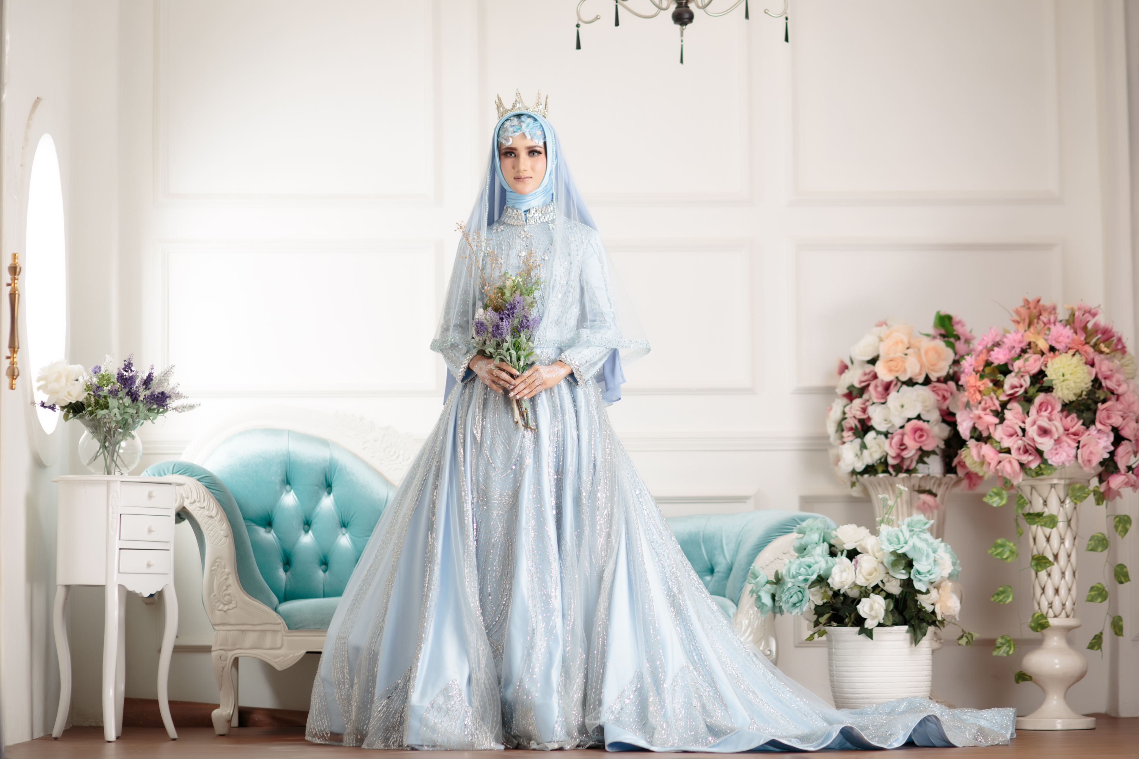 Laksmi Kebaya Muslimah Islamic Bride Wedding Bridal In