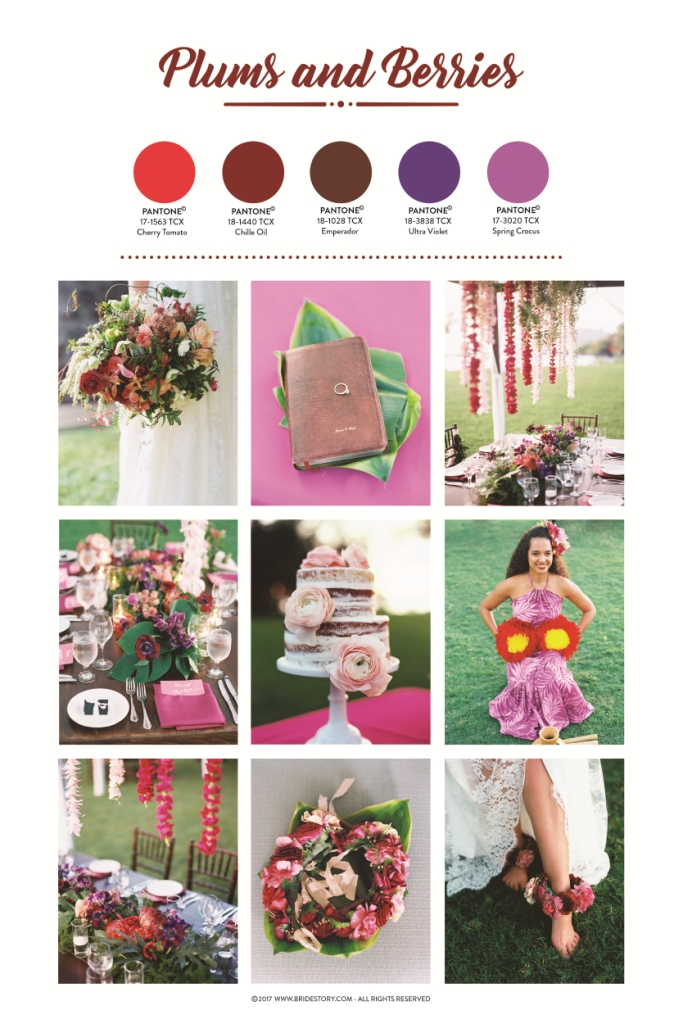 plums and berries wedding colour palette