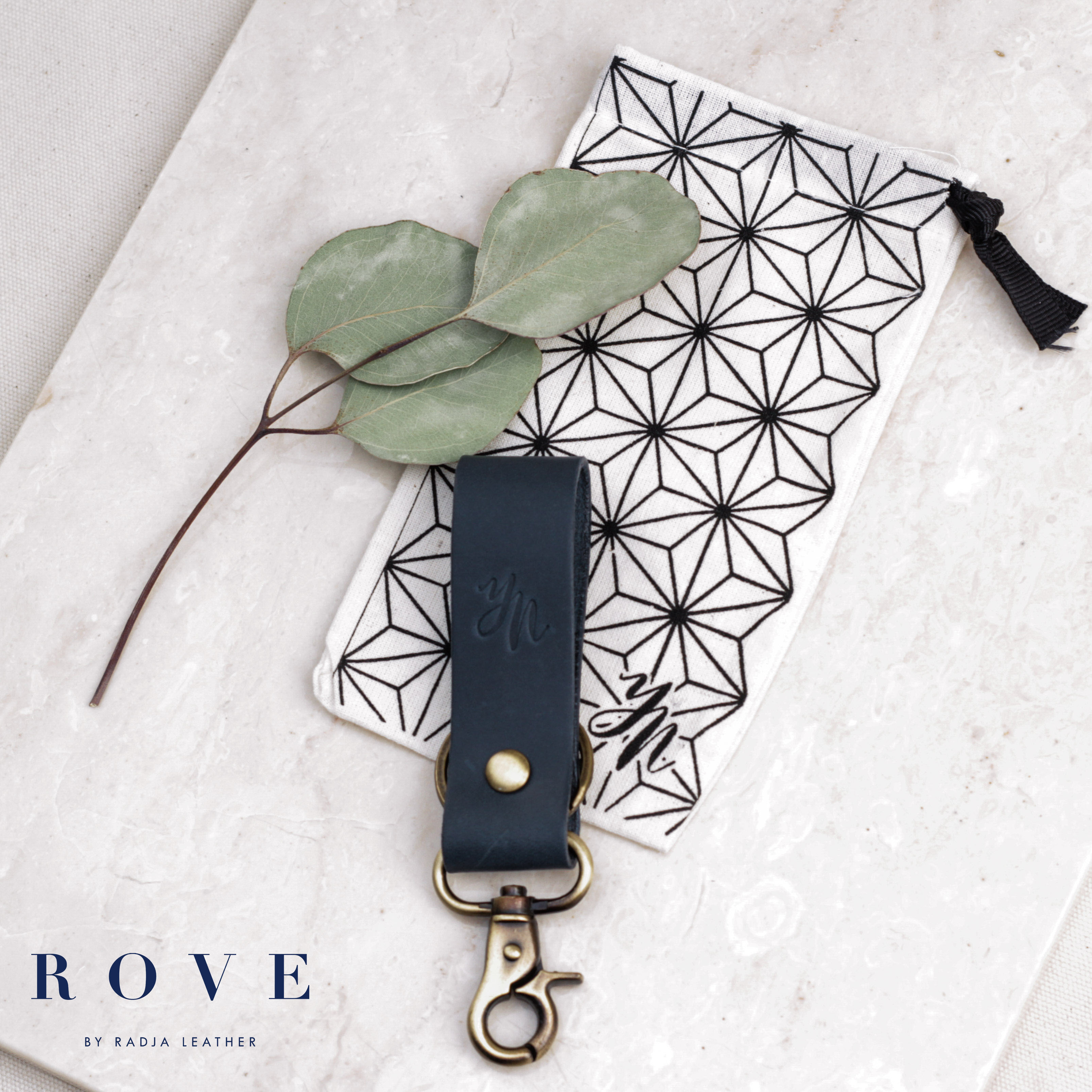 Nadya Natalia Yudhis Wongso Keychain By Rove Gift Houseofcuff Leather Black