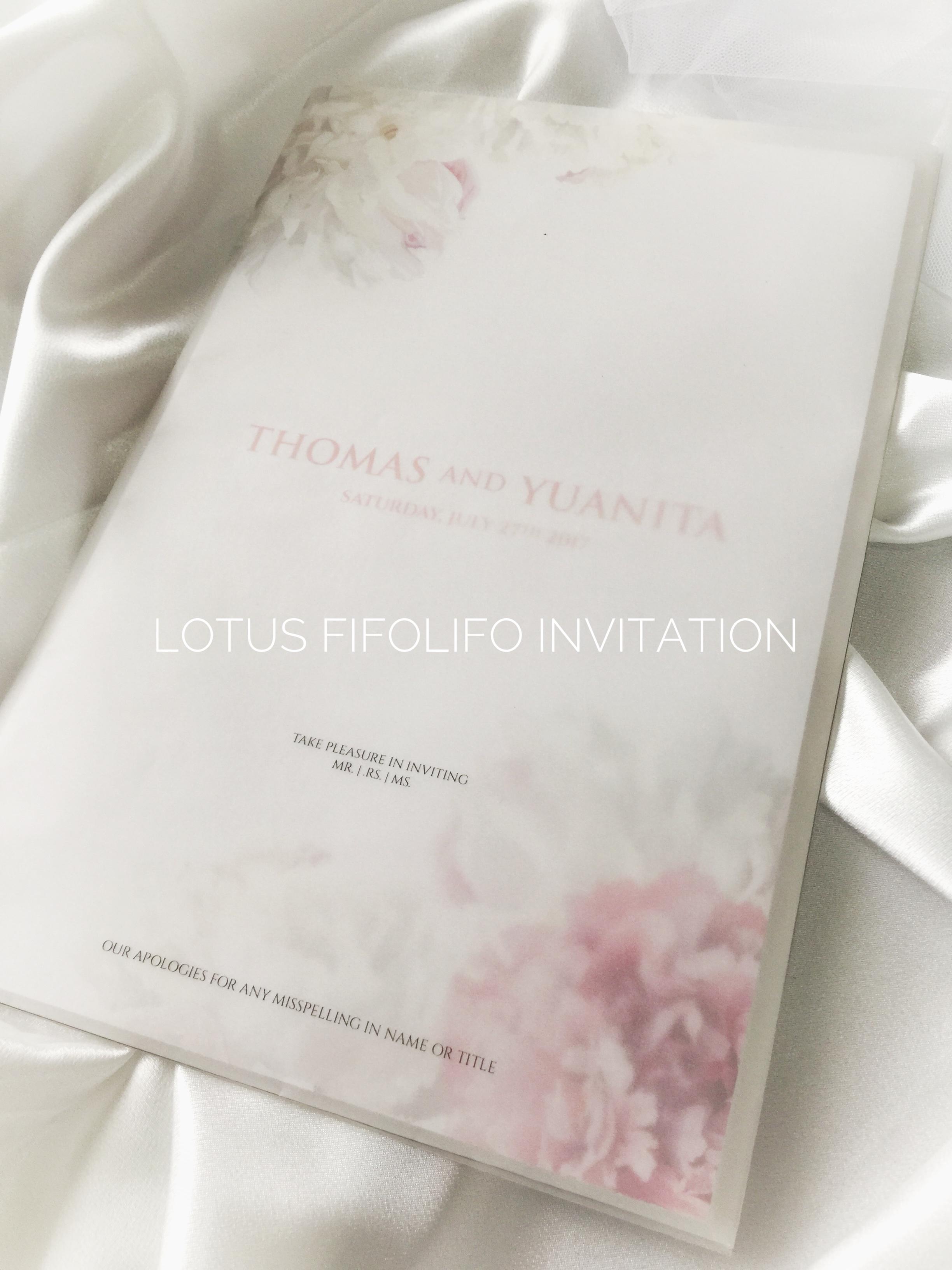 Beautiful Lotus Wedding Invitations Mold - Invitations Design ...