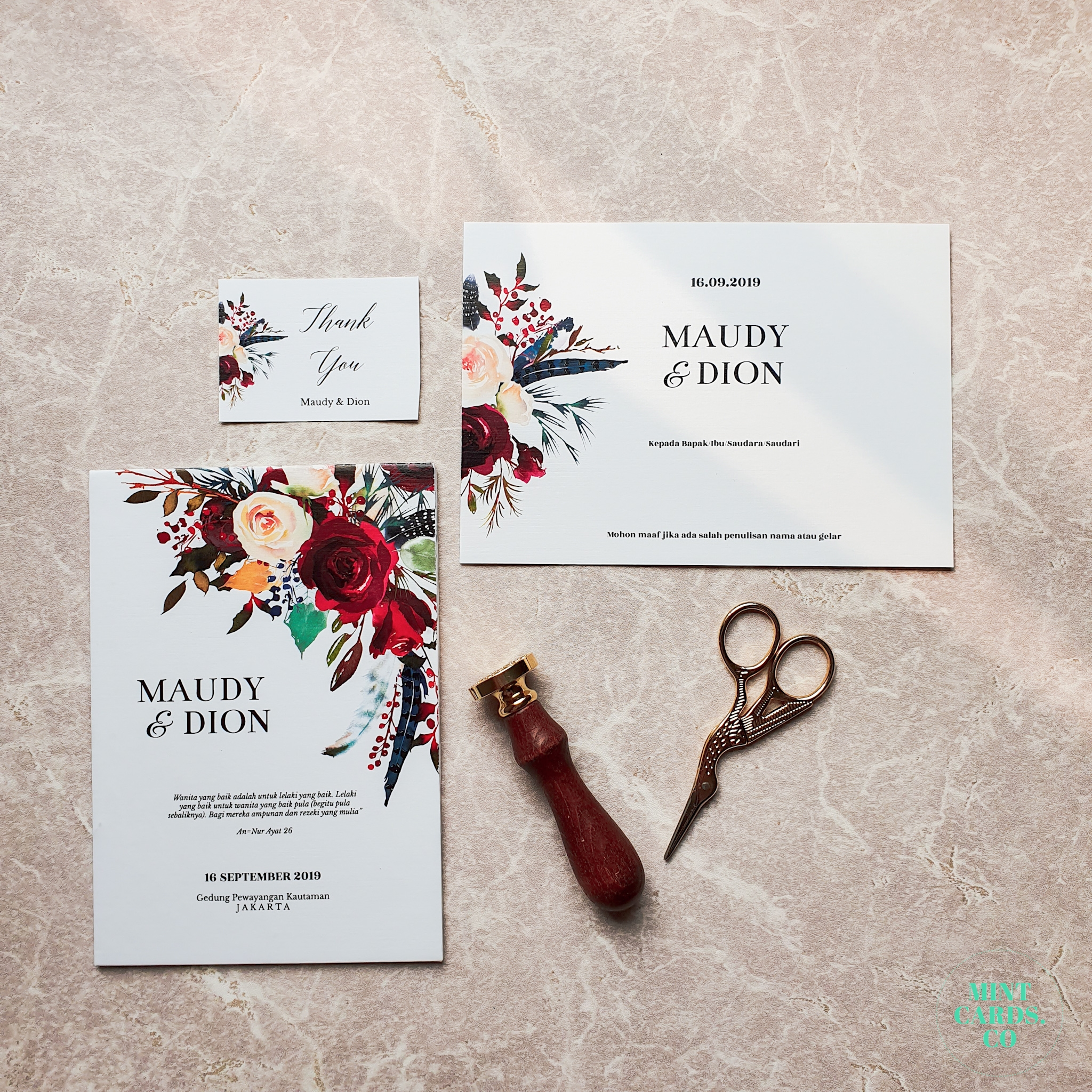 Maudy Dion By Mintcards Co Bridestory Com