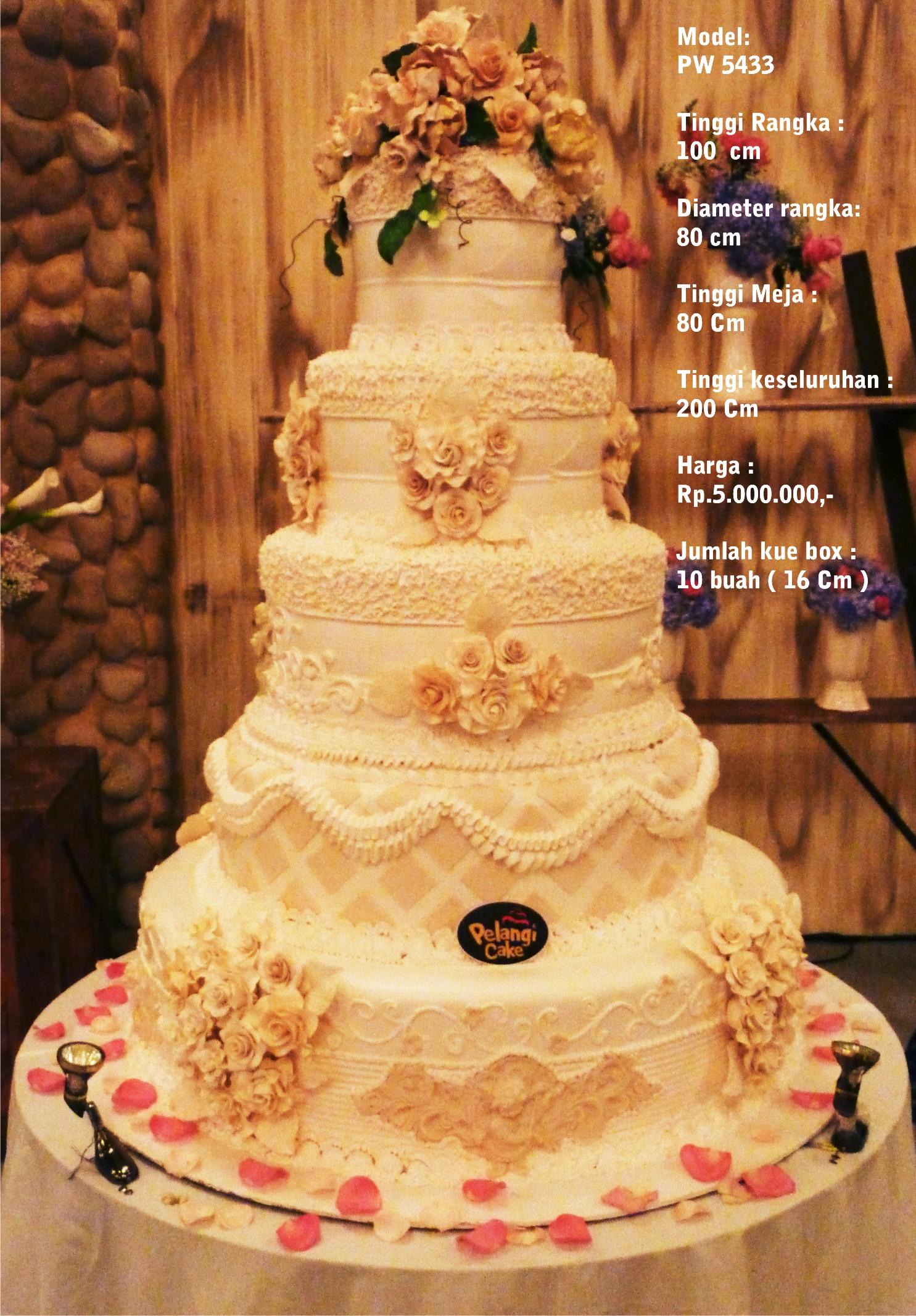 Wedding cake 5 Tiers by Pelangi Cake   Bridestory.com
