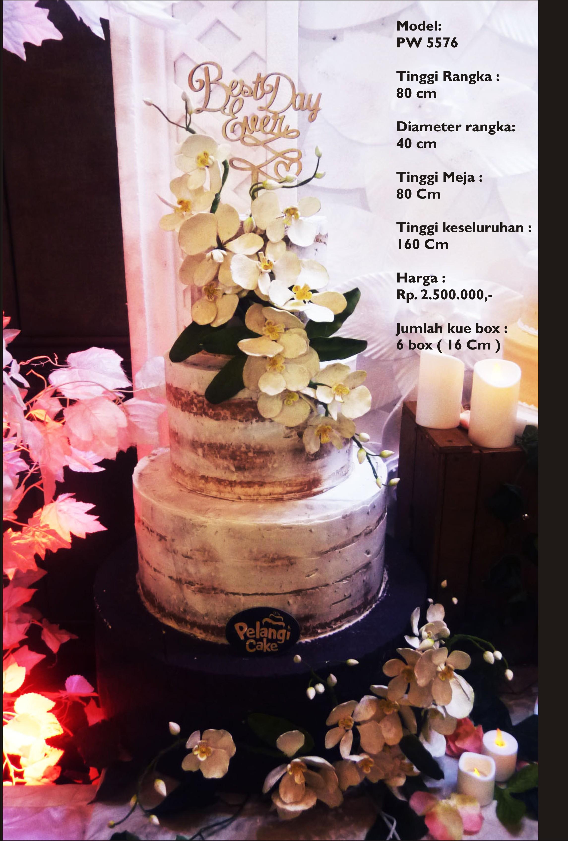 Wedding Cake 3 Tiers By Pelangi Cake Bridestorycom - Harga Dummy Wedding Cake