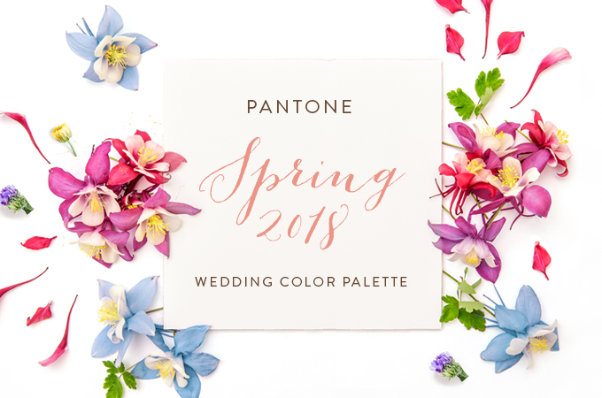 3 tropical wedding palettes inspired from pantone s spring 2018