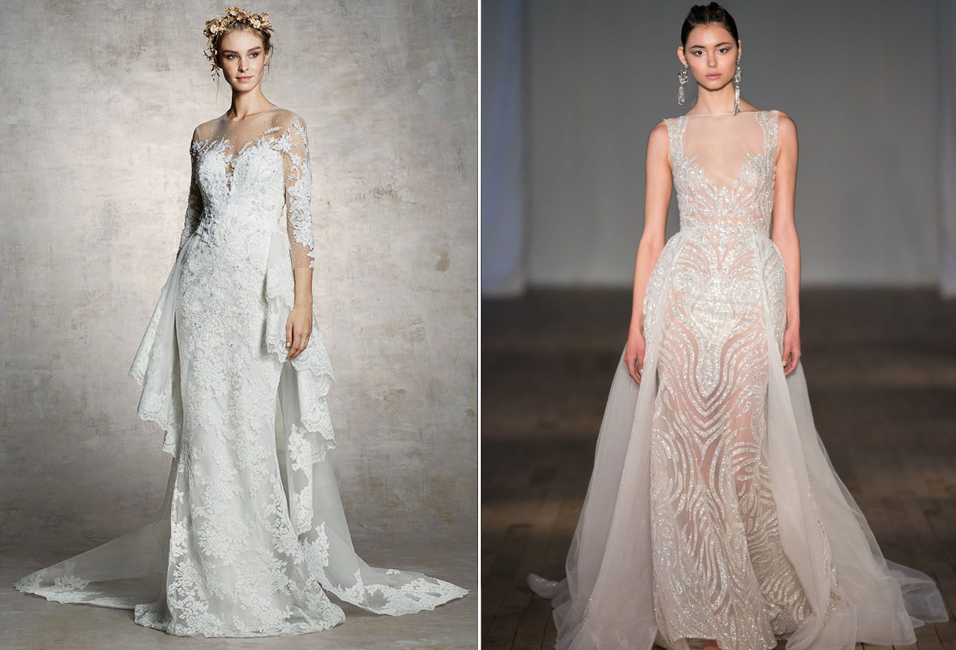 The Latest Wedding Dress Trends From Spring 2019 Bridal
