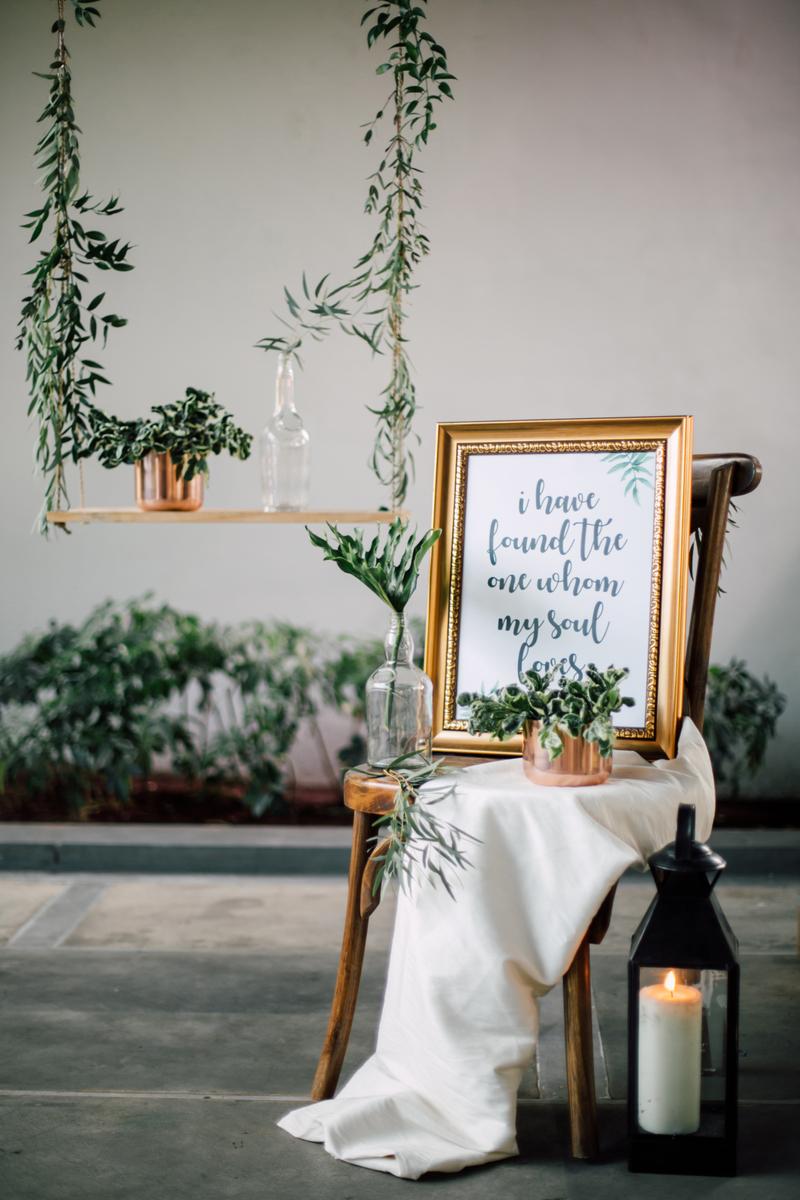 Verena mia wedding bridal in bandung bridestory an all green wedding styled shoot with gold accents junglespirit Choice Image