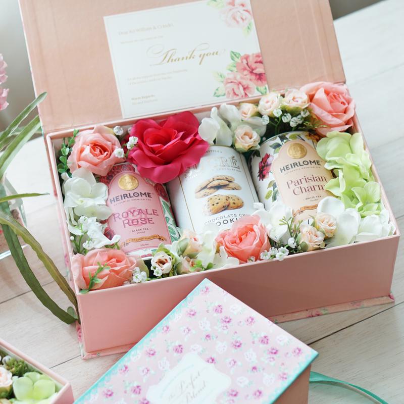Floral Tea Hampers For A Garden Themed Wedding