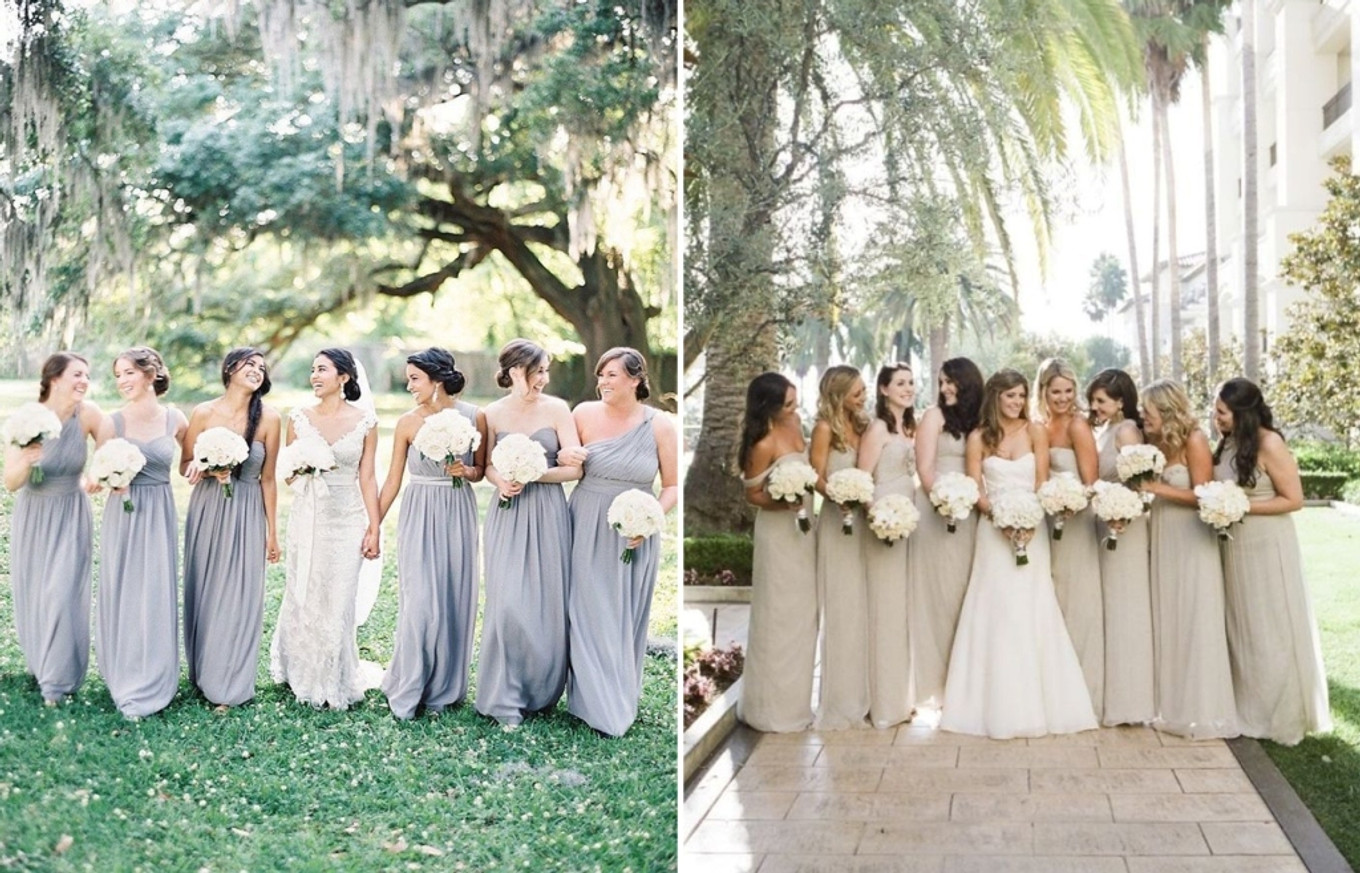 Wedding Dress Ideas: Get Creative With These Mismatched Bridesmaid Dresses