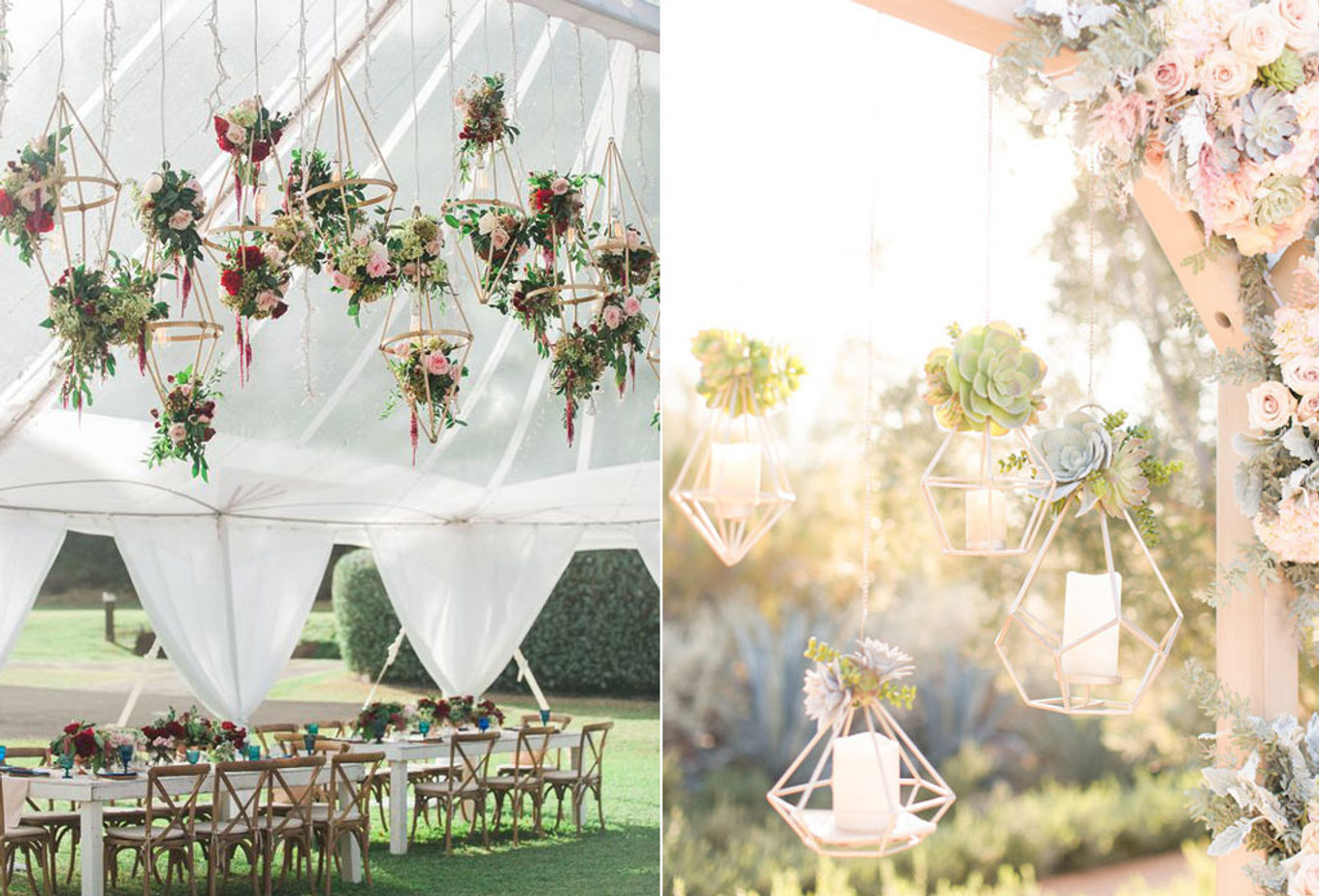 16 Enchanting Overhead Decoration Ideas for Your Wedding ...