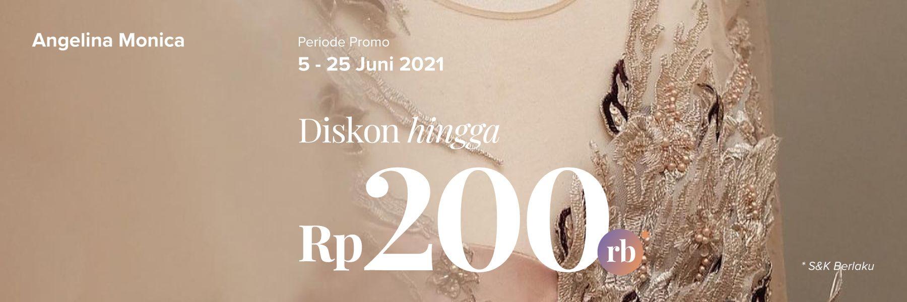 Potongan Hingga Rp 200.000 Untuk Gaun di Angelina Monica