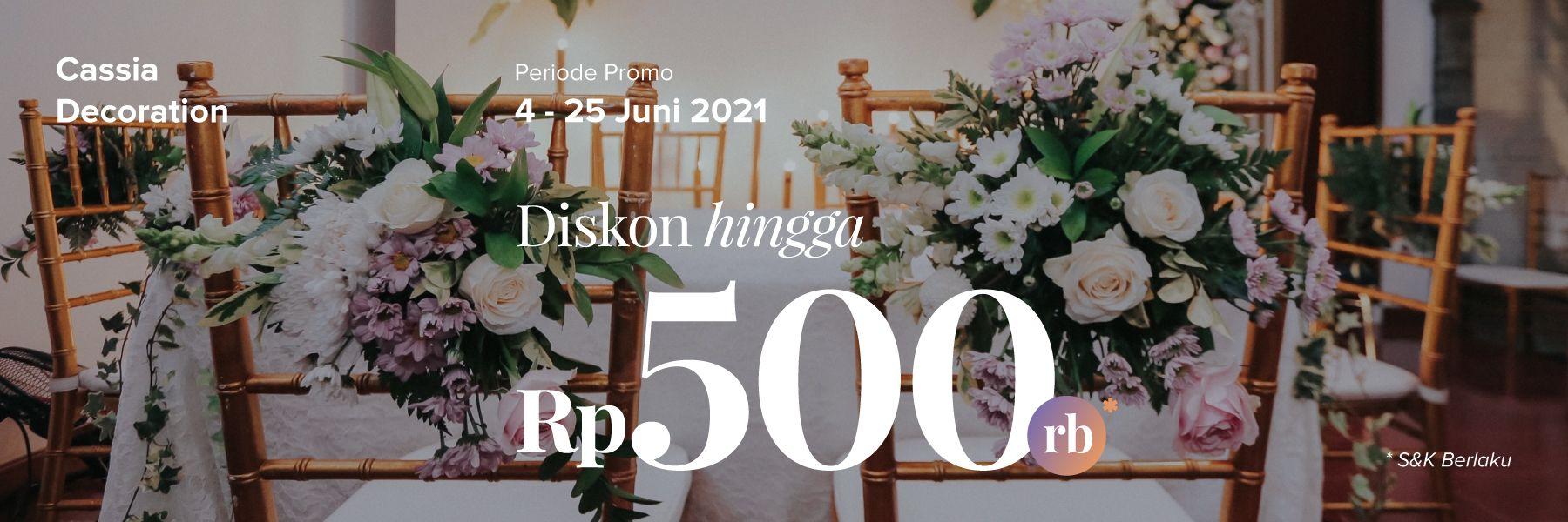 Diskon Dekorasi hingga Rp 500.000 di Cassia Decoration