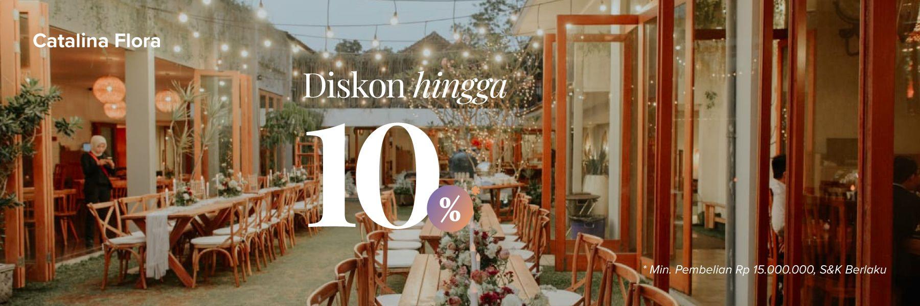 Penawaran Spesial Diskon10% Paket Dekorasi di Catalina Flora