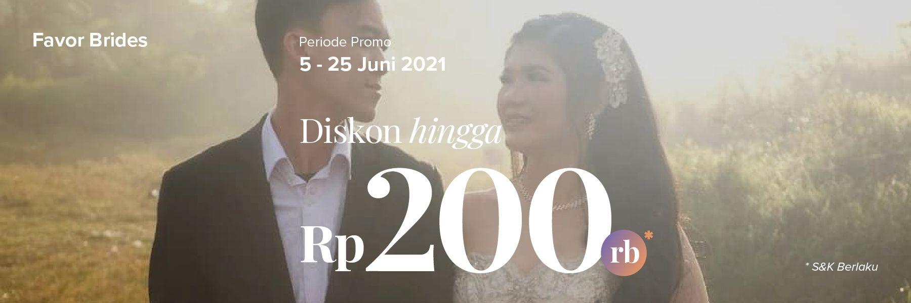 Diskon Paket Bridal Sampai Rp 200.000 di Favor Brides!