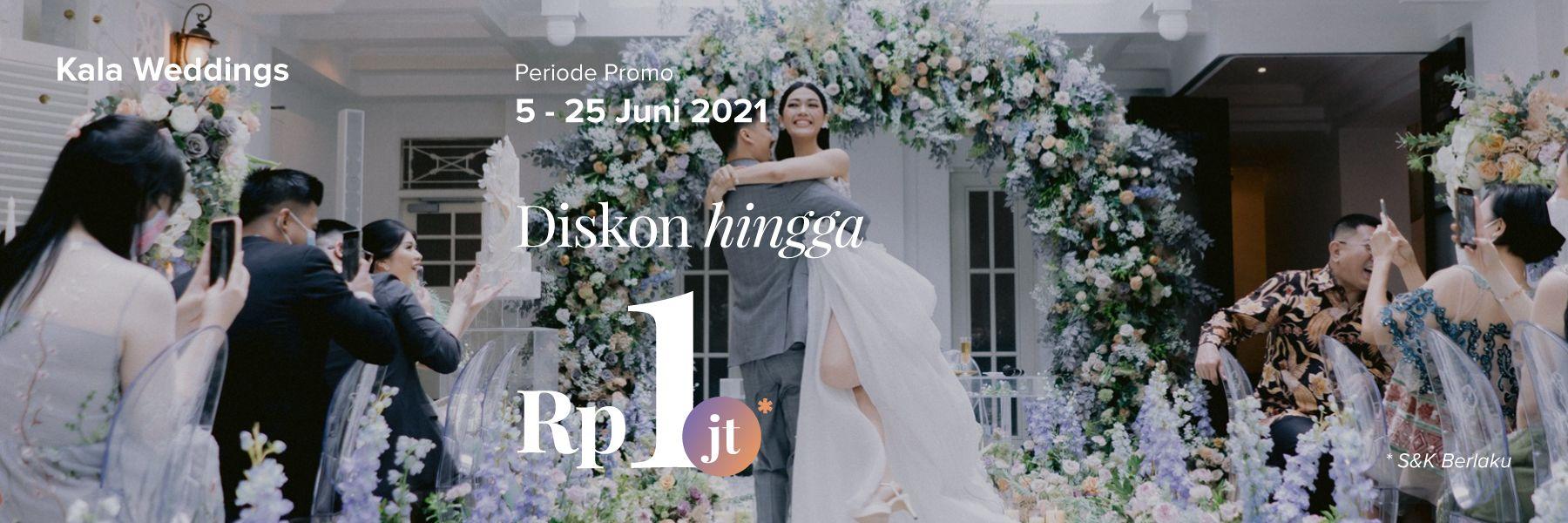 Diskon 1 Juta Rupiah untuk Dekorasi Impian di Kala Weddings