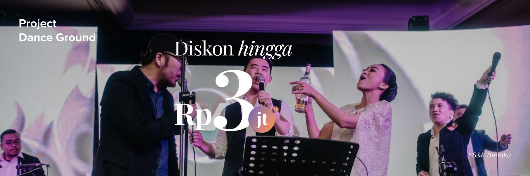 Potongan hingga Rp 3,000,000 untuk Project Dance Ground