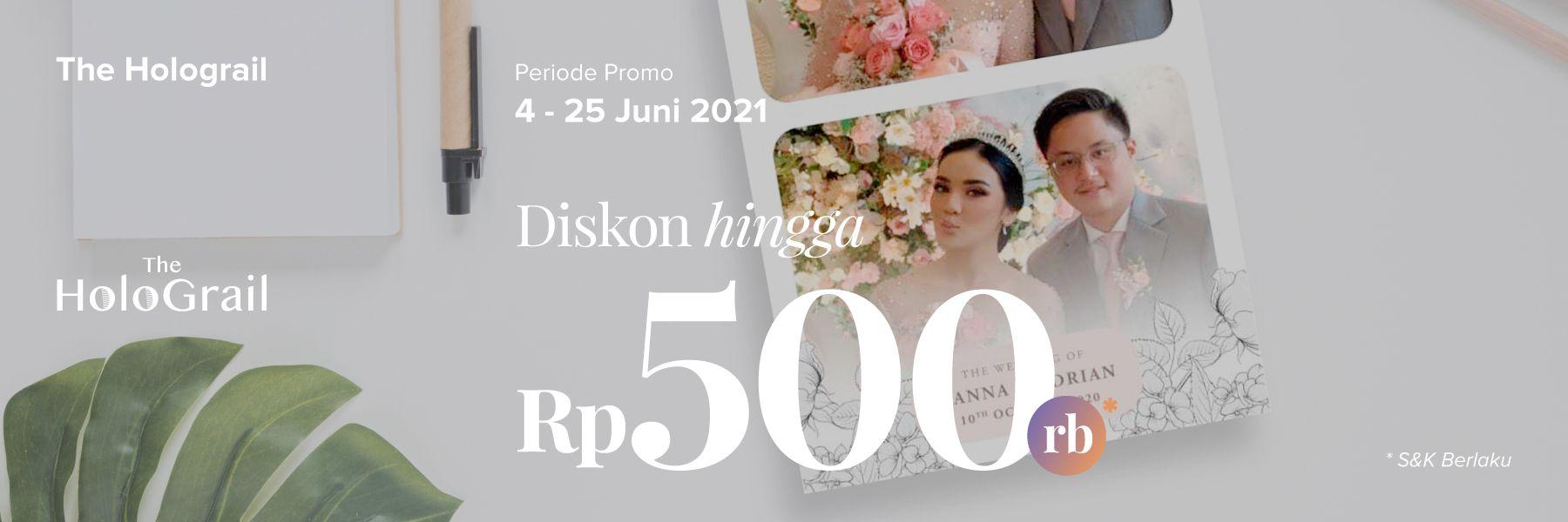 Diskon 5%+10% Khusus The Holograil Photobooth