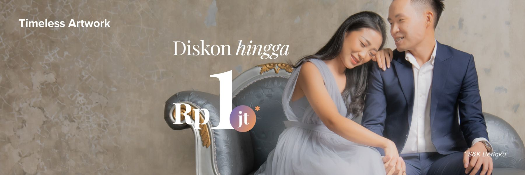 Diskon Rp 1,000,000 di Timeless Artwork