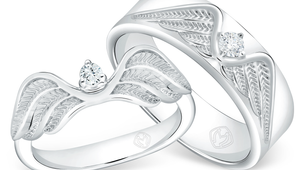 DP TEX SAVERIO WIND COLLECTION DIAMOND WEDDING RING (BRIDE'S RING)