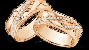 DP TEX SAVERIO METAL COLLECTION DIAMOND WEDDING RING (GROOM'S RING)