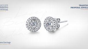 Adelle Jewellery Chelsea Diamond Earrings - Anting Berlian