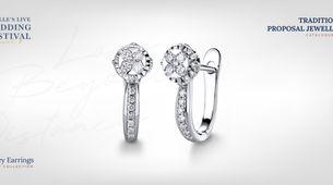 Adelle Jewellery Casey Diamond Earrings - Anting Berlian