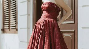 The red ball gown