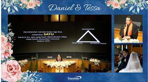 Live Stream 3 Camera - Virtual Online Wedding with Custom Frame Design