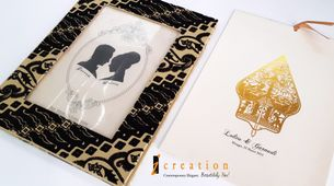 Paket 50pcs Photo Frame Wedding Invitation 7