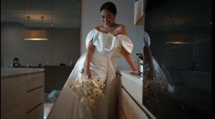 Custom rent wedding gown - PLAIN 1 look for Matrimony
