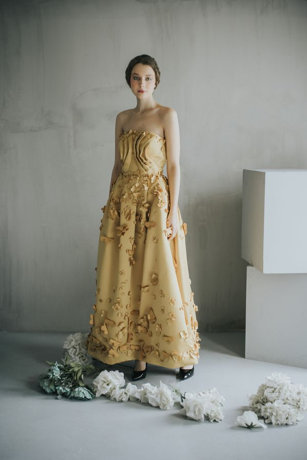 Belle Beauty Floral Ball Gown with Floral Applique
