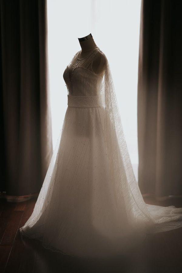Ev cape dress (rent)